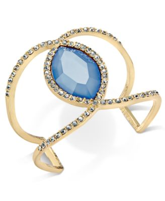 Image of INC International Concepts Pavé & Colored Stone Open Cuff Bracelet, Only at Macy's