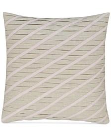 "CLOSEOUT! Rosequartz Linen 18"" Square Decorative Pillow, Created for Macy's"