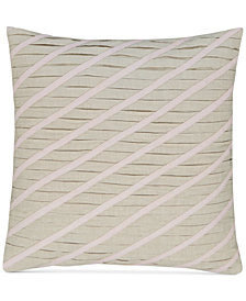 "Hotel Collection Rosequartz Linen 18"" Square Decorative Pillow, Created for Macy's"