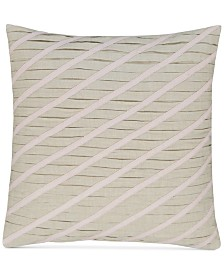 "CLOSEOUT! Hotel Collection Rosequartz Linen 18"" Square Decorative Pillow, Created for Macy's"