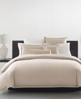 CLOSEOUT!  Contrast Flange Twin Duvet Cover, Created for Macy's
