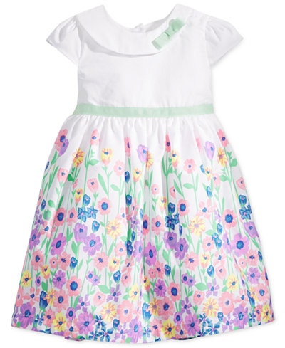 Blueberi Boulevard Floral-Print Flared Dress, Toddler & Little Girls (2T-6X)