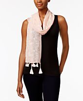 INC International Concepts Butterfly Embroidered Scarf, Created for Macy's
