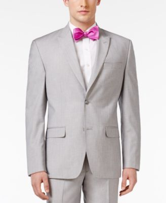 CLOSEOUT! Men's Classic-Fit Gray and Silver Sharkskin Sport Coat