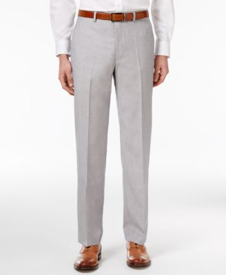 CLOSEOUT! Men's Classic-Fit Silver and Gray Sharkskin Dress Pants