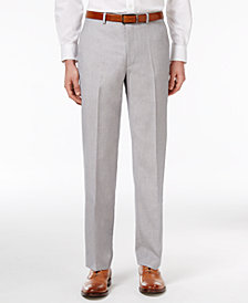 CLOSEOUT! Sean John Men's Classic-Fit Silver and Gray Sharkskin Dress Pants