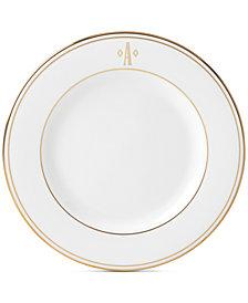 Lenox Federal Gold Monogram Salad Plate, Block Letters
