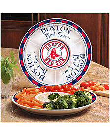 Memory Company Boston Red Sox Ceramic Round Chip & Dip Plate