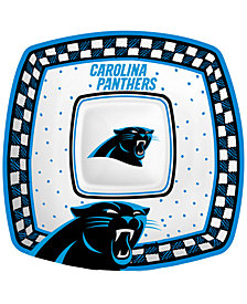 Memory Company Carolina Panthers Gameday Ceramic Chip & Dip Plate