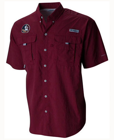Columbia Men's Florida State Seminoles Bahama Short Sleeve Button Up Shirt