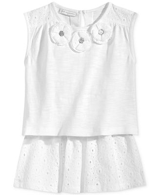 First Impressions 2-Pc. Eyelet Top & Skirt Set, Baby Girls (0-24 months), Only at Macy's