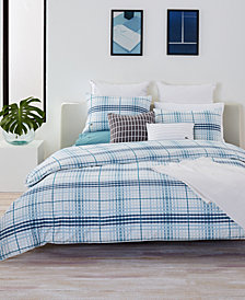 CLOSEOUT! Lacoste Home Canet Cotton King Duvet Cover Set