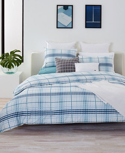 CLOSEOUT! Lacoste Home Canet Cotton Full/Queen Duvet Cover Set