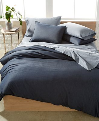 CLOSEOUT! Calvin Klein Washed Essentials Denim Wash King Comforter Set