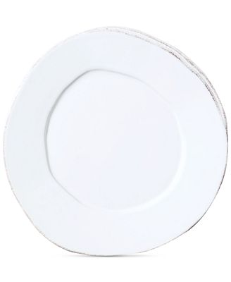 VIETRI Lastra White Collection Salad Plate