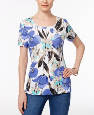 Image of Karen Scott Print T-Shirt, Only at Macy's