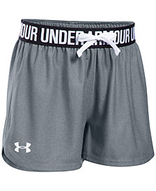 Under Armour Big Girls Play Up Running Shorts