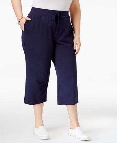 Karen Scott Plus Size Knit Capri Pants, Created for Macy's - Pants ...