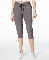 f7f77689b5903f Calvin Klein Performance Commuter Active Strech Woven Capri Pants