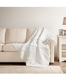 "Madison Park Juliette Oversized 60"" x 70"" Quilted Throw"