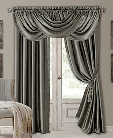 Elrene Versailles Faux Silk Window Treatment Collection