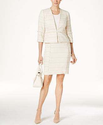 Kasper Petite Tweed Blazer & Skirt