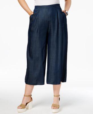 Wide Leg Women's Plus Size Pants - Macy's