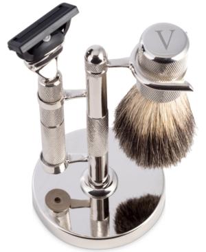 Men's Monogrammed Razor & Brush Set