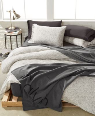 calvin klein modern cotton strata marble bedding collection - Cal King Comforter Sets