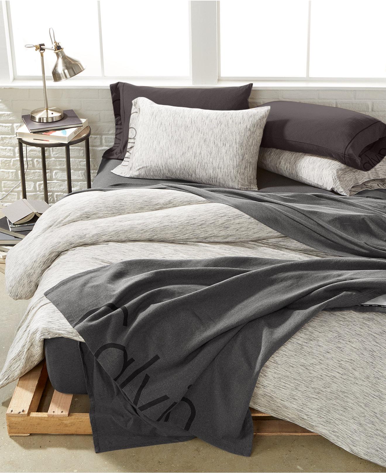 bedding collections  macy's - calvin klein modern cotton strata marble bedding collection