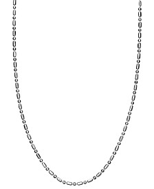 "Giani Bernini Sterling Silver Necklace, 18"" Dot Dash Chain"