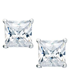 Cubic Zirconia Square Stud Earrings (2 ct. t.w.) in 18k Gold over Sterling Silver, Created for Macy's
