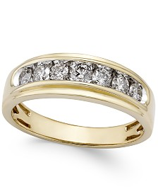 Men's Diamond Band (3/4 ct. t.w.) in 10k Gold