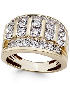 Men's Diamond Elevated Cluster Ring (3 ct. t.w.) in 10k Gold