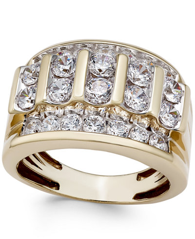 Men S Diamond Elevated Cluster Ring 3 Ct T W In 10k