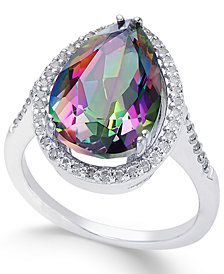 Mystic Topaz (4 ct. t.w.) and White Topaz (1 ct. t.w.) Ring in Sterling Silver