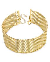 INC International Concepts Wide Mesh Choker Necklace, Created for Macy's