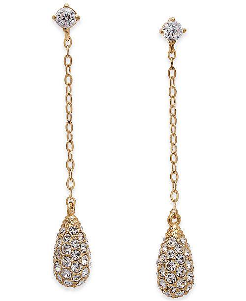 Danori Gold-Tone Pavé Drop Earrings