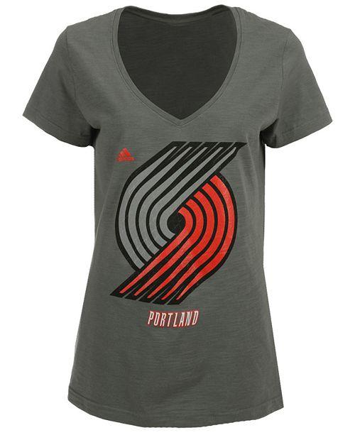 adidas Women's Portland Trail Blazers Netted Shine T-Shirt