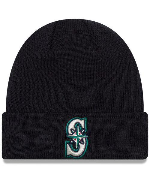 brand new c88c5 0c88d ... low cost new era. seattle mariners basic cuffed knit hat. be the first  to