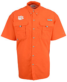 Columbia Men's Clemson Tigers Bahama Short Sleeve Button Up Shirt