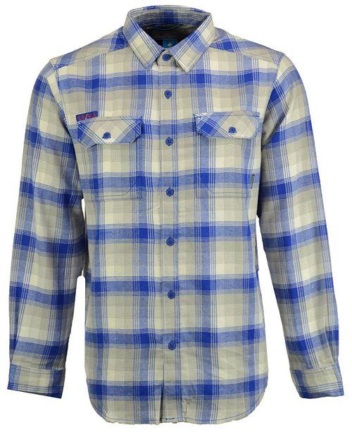 Columbia Men's Kansas Jayhawks Flare Gun Long Sleeve Flannel Button Up Shirt