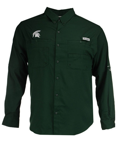 Columbia Men's Michigan State Spartans Tamiami Long Sleeve Button Down Shirt