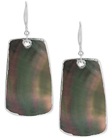 Robert Lee Morris Soho Silver-Tone Mother of Pearl-Look Drop Earrings