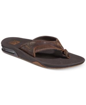 Reef Men's Leather Fanning Flip Flops Men's Shoes