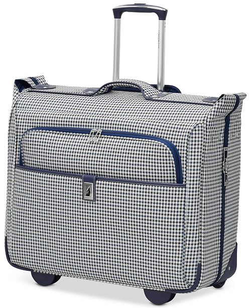 "London Fog CLOSEOUT! Oxford Hyperlight 44"" Wheeled Garment Bag, Created for Macy's"