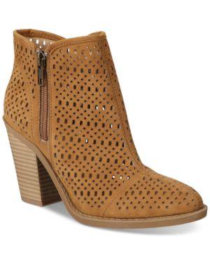 Esprit Kay Block-Heel Perforated Booties