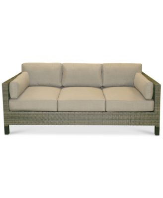 Northport Wicker Outdoor Sofa, Created For Macyu0027s