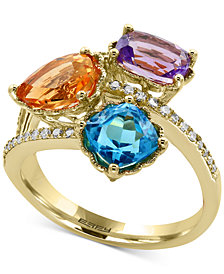 EFFY® Multi-Gemstone (3-1/2 ct. t.w.) and Diamond (1/8 ct. t.w.) Ring in 14k Gold