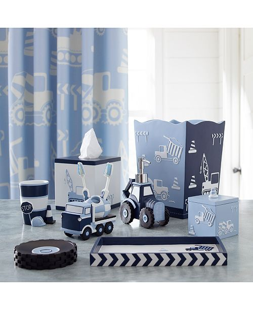 a lighthearted take on the heavy equipment kids love to imagine operating the kassatex kassa kids construction collection builds a fun bath - Kids Bathroom
